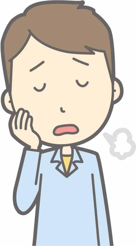 ため息をついている男性のイラスト